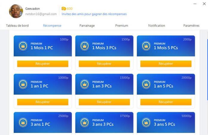 Échangez des points en des Offres Premium 360 Total Security
