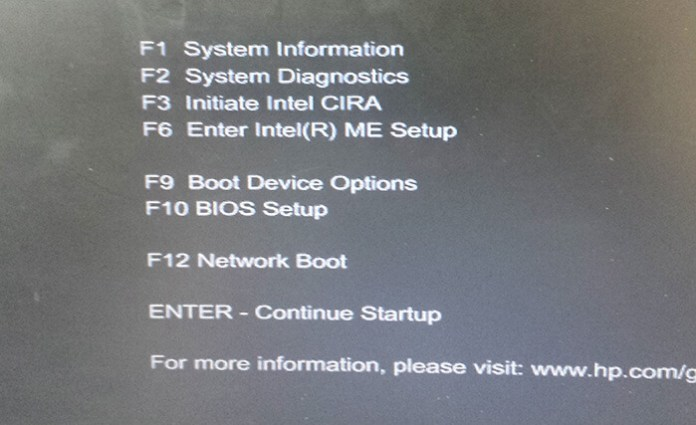 Choisissez BIOS Setup !
