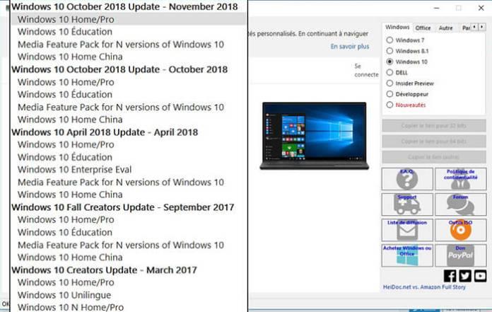 Sélectionnez une Edition de Windows !