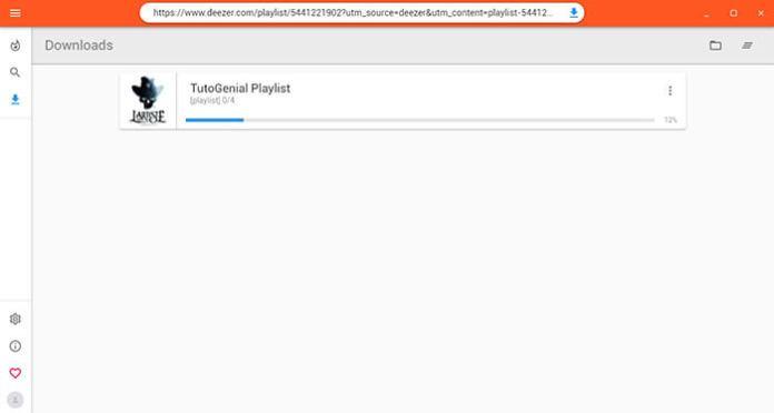 Coller le lien dans Deezloader Ramaster pour télécharger les musiques !