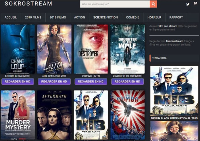 Le site de streaming gratuit SokroStream !