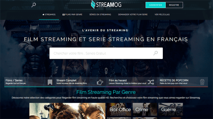 Le site de streaming gratuit Streamog.To !