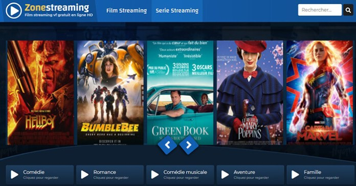 Le site de streaming gratuit ZoneStreaming.Info !