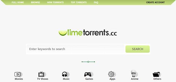 Le site torrent LimeTorrents !