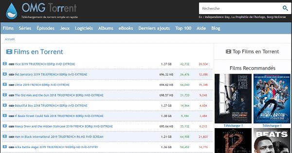 Le site torrent OMGTorrent !