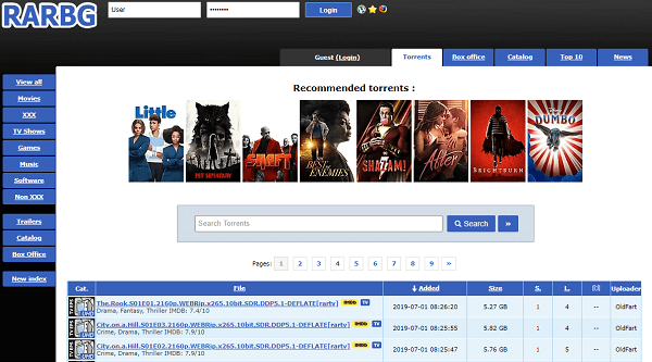 Le site torrent RARBG !