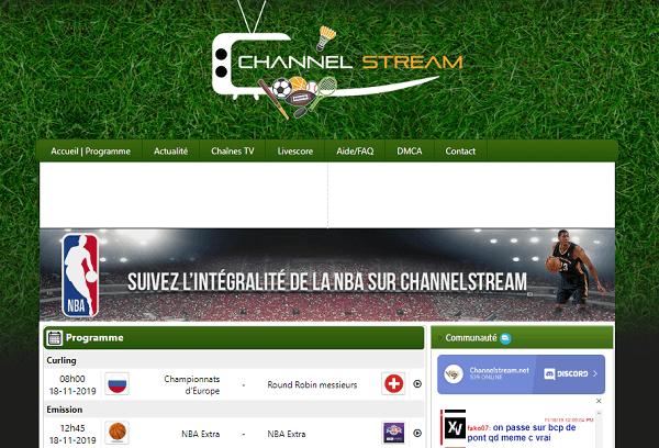 Channel Stream - Match de foot en Direct