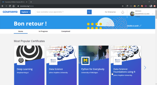 Free courses on Coursera
