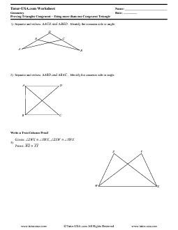 Worksheet Proving Triangles Congruent