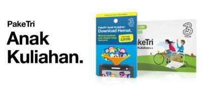 Harga Paket Internet 3 (Tri) Terbaru Bulan Ini