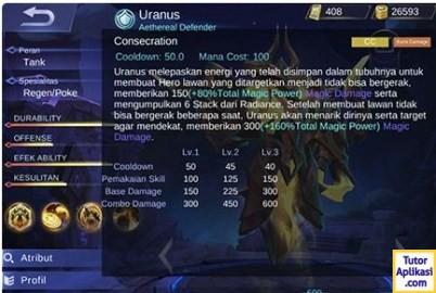 Guide Uranus (Skill, Build Item, Spell, Emblem) 2018