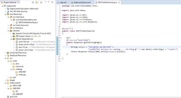 Project Explorer Dynamic Web Module 3.1