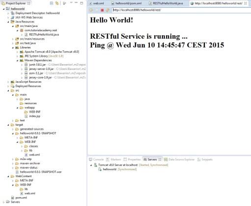 RESTful Webservice Running