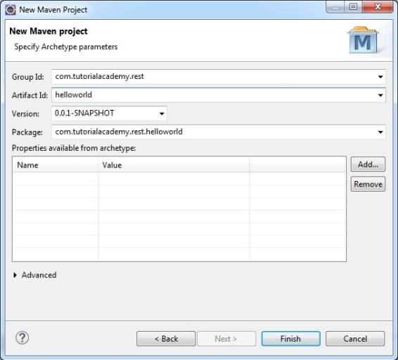 New Maven Webapp HelloWorld