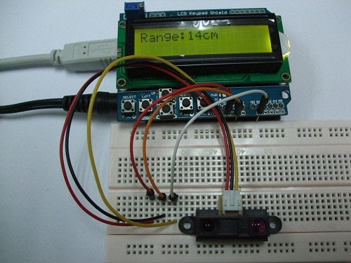 PROJECT 8 - ANALOG DISTANCE SENSOR TO LCD DISPLAY