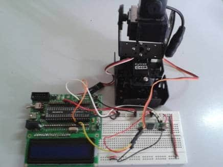 Remote Control of Tilt and Pan Camera using Microcontroller