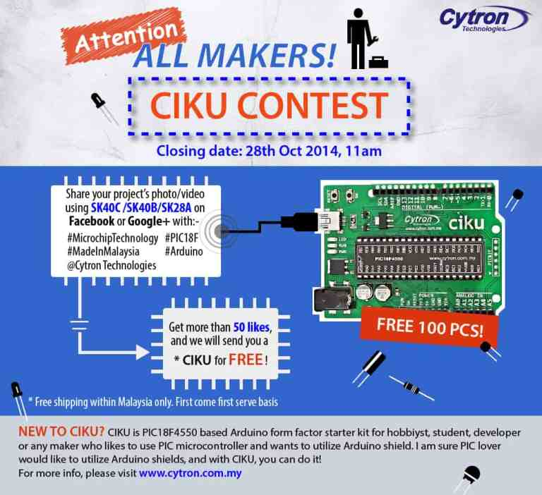 Share SK40C project, get 50 likes, get a CIKU for FREE!