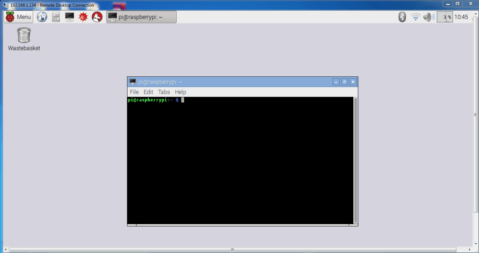 Raspberry Pi: GUI with a Remote Desktop Connection