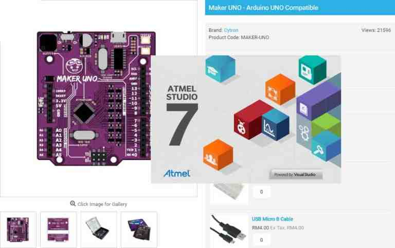 How To Program Arduino (Maker UNO) Using Atmel Studio