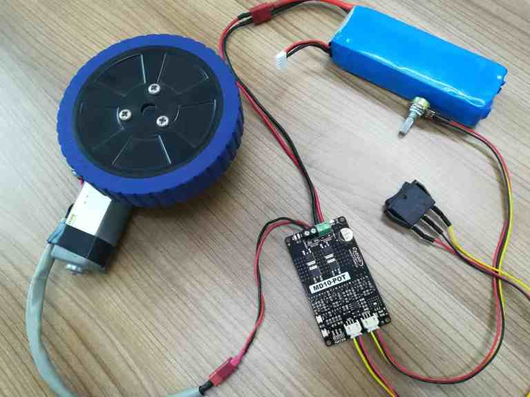 MD10-POT: Controlling DC Motor without Writing Code