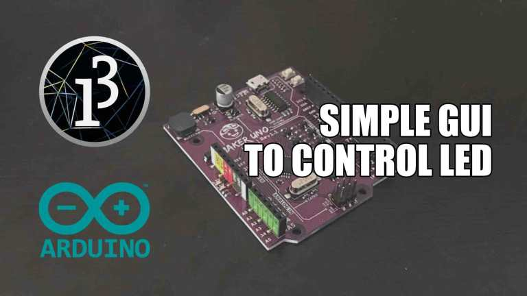 Simple GUI to Control LED on Arduino with Processing
