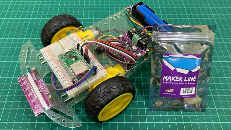 ESP32 PD Line Following Robot with Maker Line