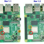 Compare Raspberry Pi(front) V1.1 And V1.2 (1)