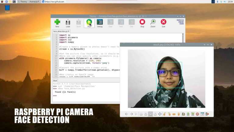 Face Detection On Pi Camera Image Using OpenCV Python3 on Raspberry Pi