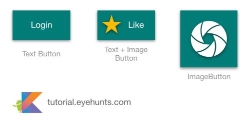 Android Button Example [ OnClick   Color   Design ] in Kotlin tuorial