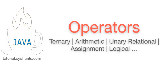 Java Operators   Ternary, Bitwise, Arithmetic, Assignment, Logical examples