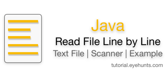 Java read file line by line Text File Scanner Examples