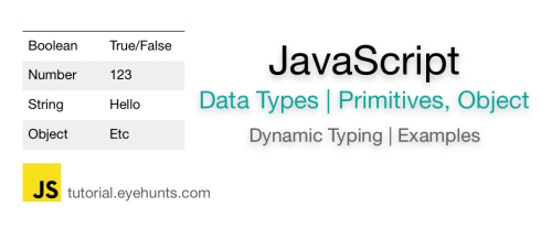 JavaScript Data Types and Examples