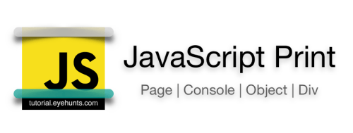 JavaScript Print to Console Object Div Page Button