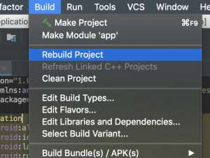 Rebuild Project android studio