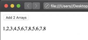3 JavaScript array concat output