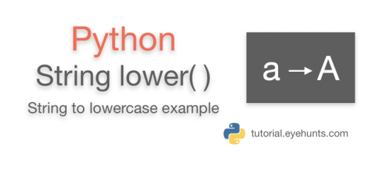 Python lowercase function lower