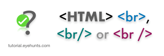 HTML Horizontal line difference between <br> and <br/> tag
