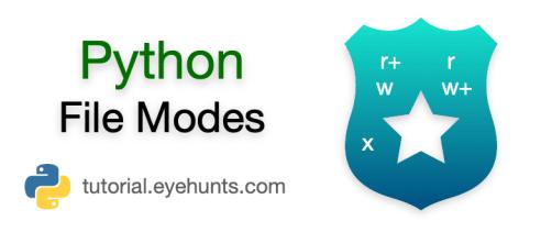 Python file modes Open, Write, append