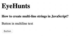 JavaScript multiline string example
