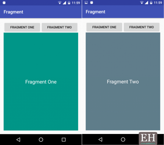 android fragments example
