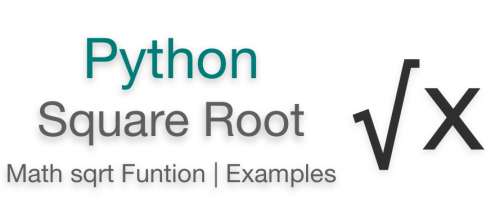 Python square root | Python sqrt function example | Math