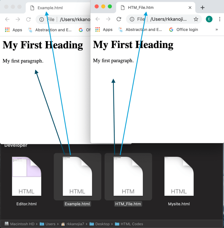 How to Save page as HTML vs HTM?