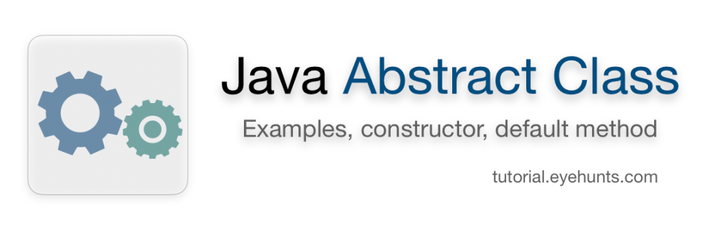 Java abstract class | Examples