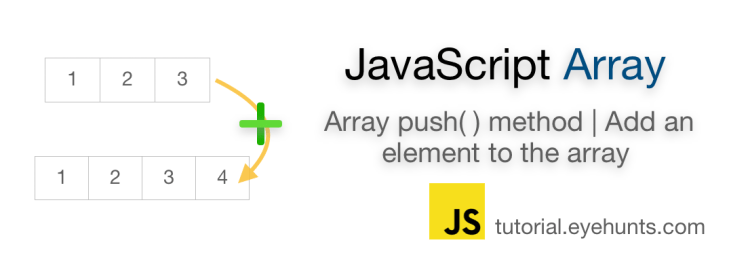 JavaScript array push method