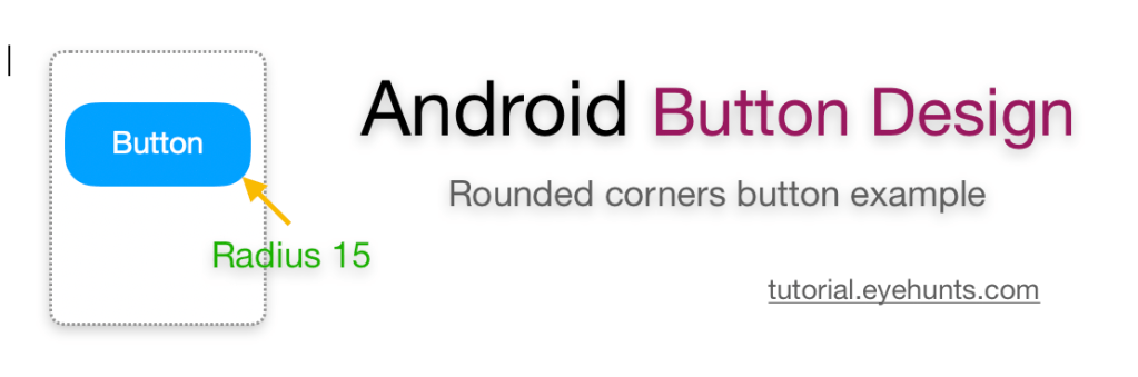 Android button rounded corners