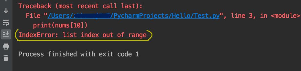 Python List index out of range