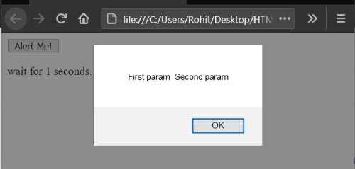 How can I pass a parameter to a setTimeout callback