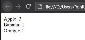Count duplicates in array JavaScript