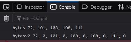convert JavaScript string to byte array