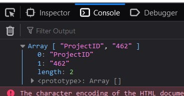 JavaScript get query string